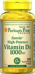 Puritan's Pride Vitamine D3 1000 IE 100 Softgels 15605