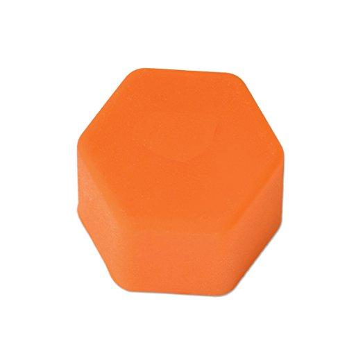 Eastar 20pcs Universal 17mm Silikon Auto Radmuttern Rad Muttern Rad Lug Mutter Schraube Abdeckung schützende Reifen Ventil Schraube Kappe Antirust Orange