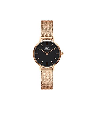 Daniel Wellington Reloj Petite Melrose, pulsera de malla de oro rosa, 24mm