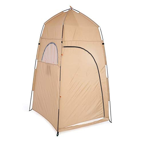 Outdoor privacy WC Tents Pop Up Pod Changing Room Privacy Tent Instant Portable Outdoor Shower Tent Camp Toilet, Rain Shelter for Camping & Beach Lightweight & Sturdy,Easy Set Up ( Color : Beige )