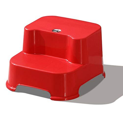 CHAXIA Siège d'enfant Tapis De Marche Tabouret, Bébé Accueil Repose Pieds Escaliers Tabouret, 4 Couleurs en Option (Color : Red, Size : 30x34x20.5cm)