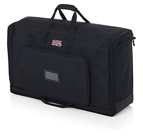 "Gator Cases Padded Nylon Dual Carry Tote Bag for Transporting (2) LCD Screens, Monitors and TVs Between 27"" - 32""; (G-LCD-TOTE-MDX2) (Renewed)"