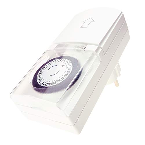 4smile Zeitschaltuhr Aussenbereich 4 Stück, IP44, Weiß