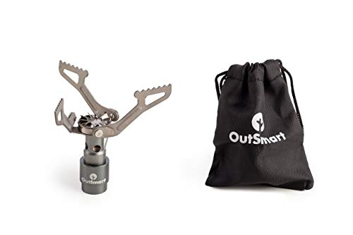 OutSmart Ultralight Titanium Gas Stove | Single Burner Portable Stove for Backpacking, Outdoor Camping and Hiking | Because a House While Traveling Doesn't Come with a Travel Stove