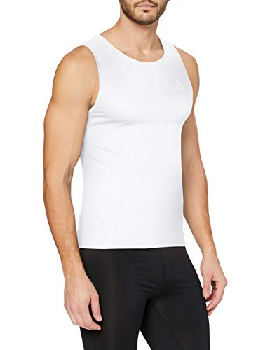 Odlo Herren SUW TOP Crew Neck Singlet Active F-Dry Light Unterhemd, White, S