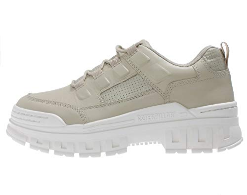 Caterpillar Damen Schuhe mit hoher Sohle - Cat Plateau Sneaker mit Dicker Sohle, Farbe:Beige, Größe:EUR 40