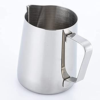 PCduoduo Milk Frother Steamer Cup - Stainless Steel Coffee Tools Cup -Foam Making for Coffee Matcha Chai Cappuccino Latte & Hot Chocolate  5oz/150ML