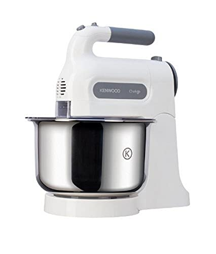 Kenwood Chefette HM680 Hand Mixer with Stainless steel Bowl, 5 speeds and pulse function,Stainless steel beaters and kneaders, 350W- White