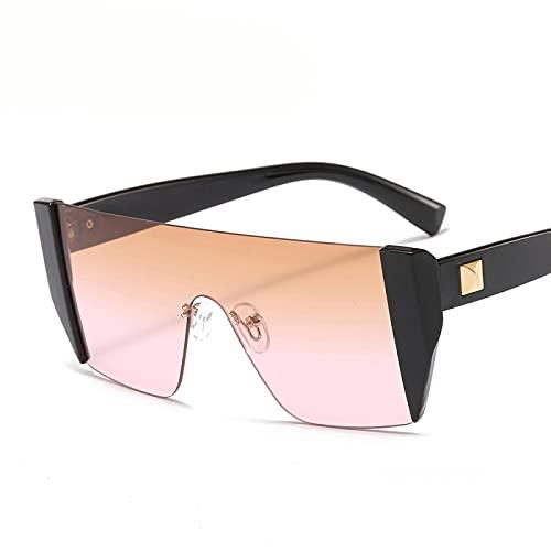 Único Gafas de Sol Sunglasses Gafas De Sol Cuadradas Sin Montura Diseñador De Lujo Mujer Gafas De Sol De Una Pieza De Gr