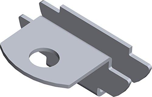 Element-system 11603-00000 - Einsteckhalter de perfiles en u de soporte del estante, 1 cara, pista de madera y vidrio estantes, e
