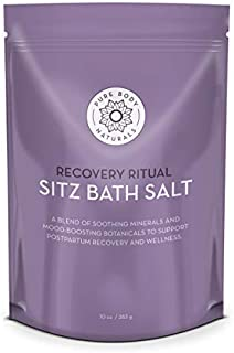 Sitz Bath Salt – Postpartum Care and Hemorrhoid Treatment – Natural Sitz Bath Soak with Epsom Salt, Dead Sea Salt, Essenti...