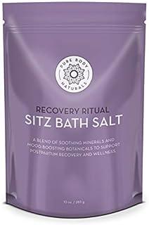 Sitz Bath Salt – Postpartum Care and Hemorrhoid Treatment – Natural Sitz Bath Soak with Epsom Salt, Dead Sea Salt, and Essential Oil for Self Care and Hemmoroid Treatment, 10 oz by Pure Body Naturals