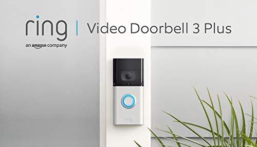Ring Video Doorbell 3 Plus - Video in HD, rilevazione di movimento avanzata, anteprime di 4 secondi e facile installazione