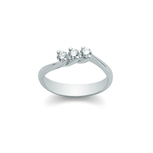 Anello Trilogy Miluna con Diamanti Naturali 0.24ct in oro bianco 18kt LID1623-024G7