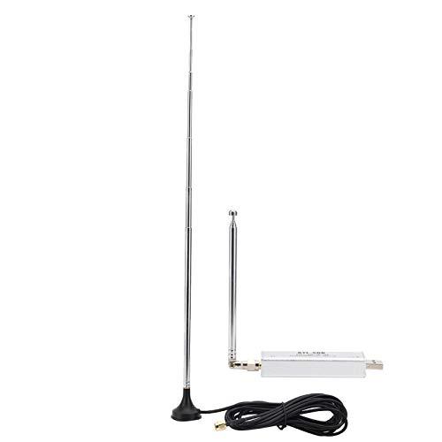 Jeanoko Software Ricevitore Radio con Antenna Silenzioso Alta sensibilità Mini Ricevitore Software Full-Band Resistente 0,1 MHz-1,7 GHz Stabile per chiamate walkie-Talkie