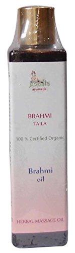 BRAHMI Taila BIO Aceite , Aceite tradicional de masaje anti-estrés a base de hierbas formulada de acuerdo con los principios del Ayurveda, , Certificado LACON GmbH en Europa, Suplemento 100% natural ecológico, Aceite 200 ml