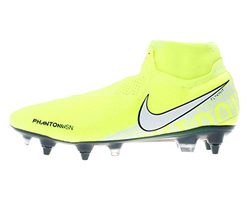 Nike Unisex-Erwachsene Phantom Vsn Elite Df Sg-pro Ac Fußballschuhe, Grün (Volt/White-Barely Volt 717), 43 EU