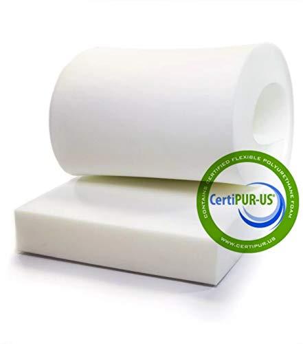 """Isellfoam Upholstery Foam Cushion 4"""" T x 24"""" W x 80"""" L 36ILD (Semi Firm) High Density Upholstery Foam Cushion CertiPUR-US Certified Foam, Made in USA"""