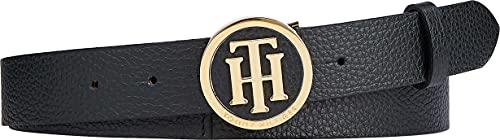 Tommy Hilfiger Curve TH Round Buckle Belt 3.0 Cinturón, Black, 115 para Mujer