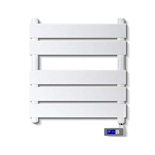 YELLAYBY Enchufe el calentador de toallas y el estante de secado, calentador de toalla montado en la pared Secador de toallas rápidas con controlador de temperatura LCD operable, acero bajo en carbono