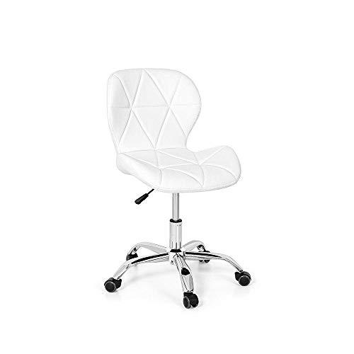 Cadeira Office Eiffel Slim Base Giratória - Branca