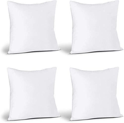 Utopia Bedding Coussins de Garnissage 40 x 40 cm (Lot de 4) - Coussin à Recouvrir - Oreillers Intérieur - Rembourrage Coussins - Housse en Mélange de Coton (Blanc)