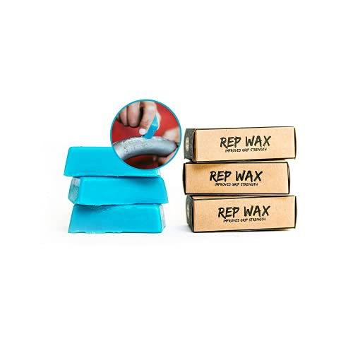 Rep Wax Fitness Wax Bar - Use for Crossfit, Gymnastics, Weight Lifting, and More - Perfect Alternative to Messy Powder Chalk and Tape - Crush Your WOD Without Hand Rips or Abrasions - Includes 3 Bars