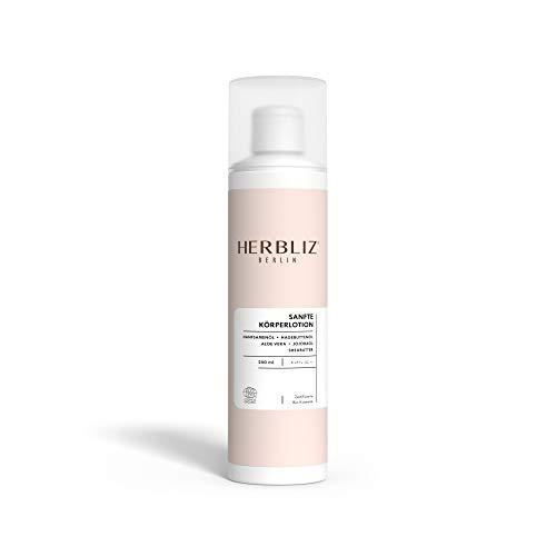 HERBLIZ Sanfte Körperlotion - 250ml | Regenerierende Bio Hanfkosmetik Body Lotion mit Unisex-Duft für Frauen und Männer | Hautstraffende Feuchtigkeitspflege mit Hanföl, Jojobaöl und Algenextrakt