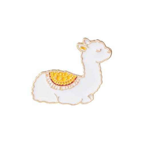 Fliyeong Premium Cartoon Llama Enamel Cute Alpaca Styling Badge Brooches Pin for Women Men