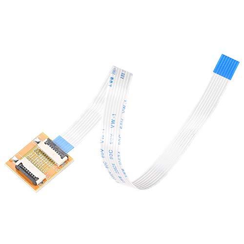 sourcing map Flexible Plano Cable (A Tipo) y Dar Vuelta Para Montaje Extender Adaptador Kit, 7 Pines 1,0mm Paso 200mm FFC para LCD TV Coche Audio DVD Reproductor Computadora Portátil