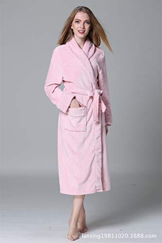 Herren Lange Robe Weiche Warme Plüsch Paar Bademantel Damen Nachtwäsche Pyjamas...