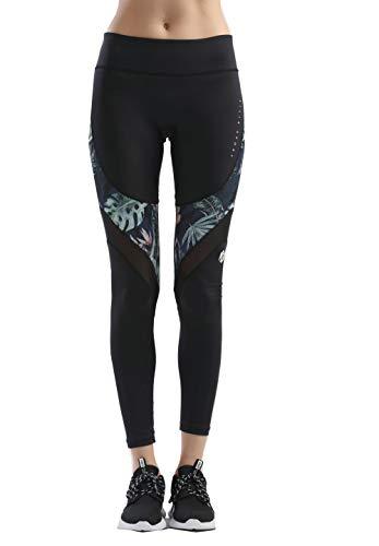 SILIK Womens Sports Workout Athletic Leggings Ganzkörperansicht Yogahosen Turnhalle Laufhosen Strumpfhosen Nachtblau XL