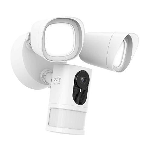 Cámara de Seguridad eufy Security con Foco, cámara de vigilancia 1080p,sin Cargo,Resistente a la Intemperie e Impermeable, Homebase no Necesita(se Necesita cableado y Caja de Cable a Prueba de Agua)