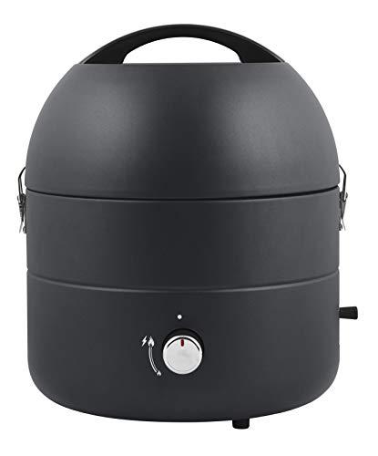 DANGRILL Gasgrill | Mobiler Gasgrill und Campinggrill mit praktischer Piezozündung | Durchmesser 31cm | für Outdoor, Balkon, BBQ, Picknick, und mehr