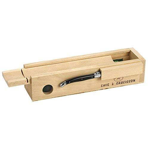 Laguiole Jean Dubost 61311 Wurstbox mit schwarzem Messer