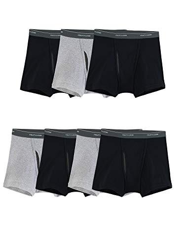Fruit of the Loom Men's Coolzone Boxer Briefs (Assorted Colors), Short Leg - 7 Pack - Black/Gray, Medium