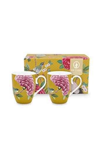Pip Studio 2er Tassen-Set Blushing Birds | Yellow - 350 ml
