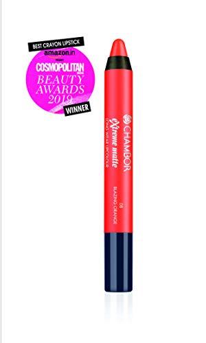 Chambor Extreme Matte Long Wear Lip Colour, Blazing Orange No.08, 2 g