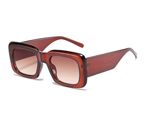 Long Keeper Gafas de sol retro para mujer y hombre, UV400, protección de gafas de sol rectangulares vintage