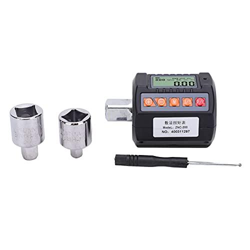 Torsion NC-200 - Adaptador digital de llave inglesa electrónica y contador de torsión, 20-200 Nm, adaptador de 3/8 pulgadas y 1/4 pulgadas