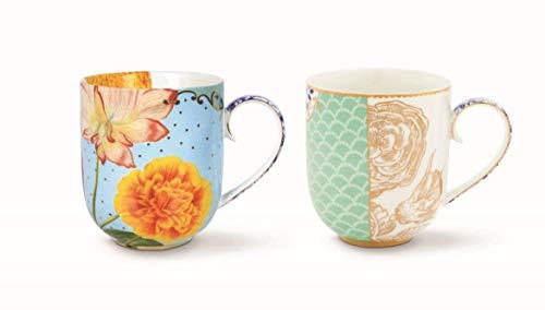 PIP Studio Royal Blue Flowers Set 2 Kaffeetassen