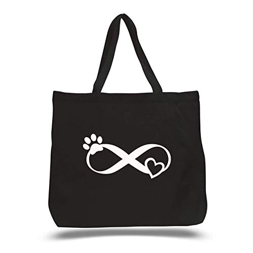 Custom Infinity Paw Print Beach Bag - Dog Mom Tote - Great Summer Gift