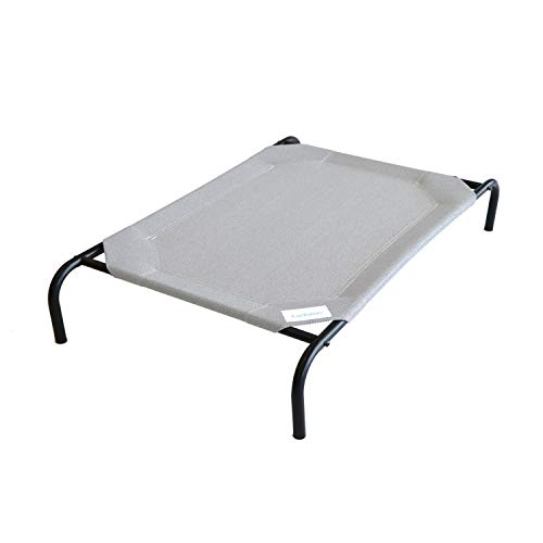 Coolaroo The Original Elevated Pet Bed, Large, Grey
