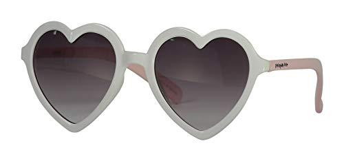 Snapper Rock Frankie Ray Lunettes de soleil UV pour enfant Blanc/rose Motif cœur