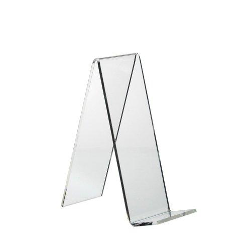 5 Stück Buchstütze/Warenstütze/Schrägsteller 135x50mm aus Acrylglas