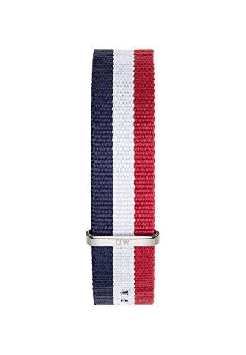 Daniel Wellington Classic Cambridge, Correa Reloj Azul-Rojo-Blanco/Plateado, 20mm, NATO, para Hombre