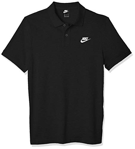 NIKE M NSW CE Polo Matchup Pq Polo Shirt, Hombre, Black/White, XL