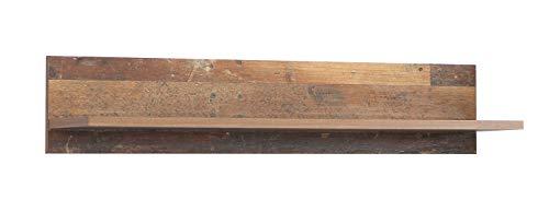 Wohnorama Wandregal 120 cm Clif von Forte Old-Wood Vintage by