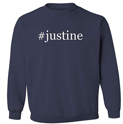 #Justine – Sudadera con cuello redondo para hombre, Marino, XX-Large