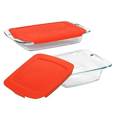 Easy Grab 4 Piece Bakeware Set Color: Red